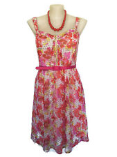 NWT CITY CHIC Sundress - 1950s Vintage Style Floral Dot Pink Red RRP $130 - M/18