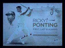 RICKY PONTING FIRST,LAST & ALWAYS AUSTRALIA CRICKET PRINT FRAMED