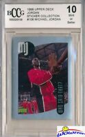 1998 Upper Deck #106 Michael Jordan Sticker BECKETT 10 MINT Bulls HOF