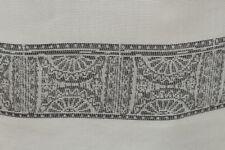 Architectural Jacquard Stripe Soft Viscose Voile Dress Fabric Material (Black)