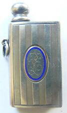 Vintage SARASTRO 403 Silver 900 Enamel  Lighter in type of Matchbox XIX -beg XXc