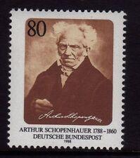Allemagne de l'ouest neuf sans charnière timbre deutsche bundespost 1988 arthur schopenhauer sg 2231