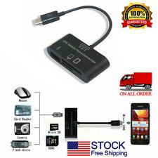 For Android Smartphone GameVideo USB Memory-Card Reader Adapter for TF-SDHC-Card