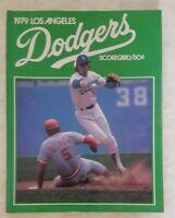 1979 LOS ANGELES DODGERS PROGRAM SCORECARD MAGAZINE UNSCORED VS BRAVES