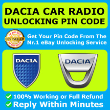 DACIA RADIO PIN CODE UNLOCK DECODE DUSTER LOGAN SANDERO DOKKER LODGY ALL MODELS