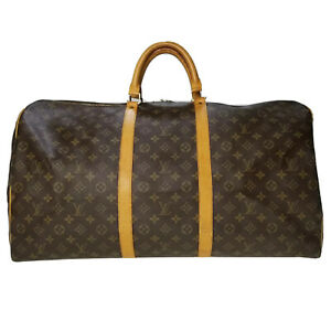 Louis Vuitton LV Monogram Bandouliere 60 M41412 travel bag used OR 6-21-A25