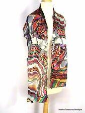 Glentex Semi-Sheer Rayon Scarf Crinkled Multi-Colored India Beautiful
