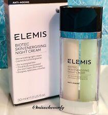 ELEMIS Biotec Skin Energising NIGHT CREAM 30ml/1oz ~ NEW+AUTHENTIC $136