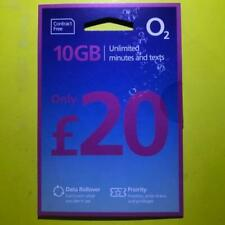 o2 SIM Card: 10GB Data + Unlimited Mins/Texts=£20 Bundle Nano Micro Mini+WiFi 02