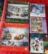 5 Christmas Puzzles Kincaid, Holiday Glitter, Night Before Christmas More PZXms5