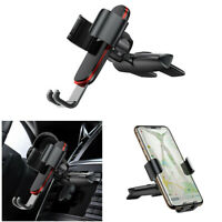 Metal Gravity Car CD Slot Mounting Black Phone Holder Bracket For iPhone Samsung