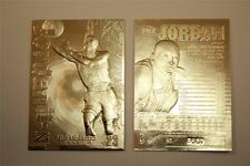 MICHAEL JORDAN 1997 SKYBOX Z-FORCE LIMITED EDITON 23KT GOLD CARD! 6X CHAMPION!