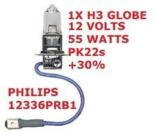 1x H3 Globe 12 Volts 55 Watts Plus 30 Pk22s Globe Base 12v 55w PHILIPS 12336PRB1