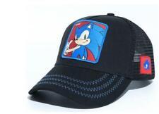 new black embroidery Cartoon Boy Sonic The Hedgehog Adjustable Baseball Hat Cap