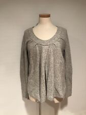 OLD NAVY MATERNITY GRAY COTTON / LAMBSWOOL PULLOVER SWEATER S NWT