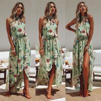 Women's Long Maxi Dress Summer Beach Evening Cocktail Party Boho Floral Sundress