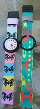 VINTAGE 1989 Swatch POP Watch Ladies Swiss Quartz Classic Watch WITH 2 BANDS