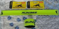 2x Run 365 Reflective Wrist / Ankle Band Snap on Band Running School Cycling