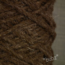 SUPER CHUNKY BERBER RUG WOOL - LARGE 500g CONE - CHOCOLATE BROWN - CARPET YARN