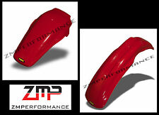 NEW HONDA 85 - 90 CR 500 MAIER RED PLASTIC FRONT AND REAR MOTORCYCLE FENDER