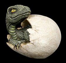 Dinosaurier Figur schlüpft aus Ei - Raptors Dawn - Dinojunges Deko Statue