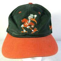 VTG Miami Hurricanes Mascot Sebastian Ibis Adult Snapback Hat Cap NCAA Used
