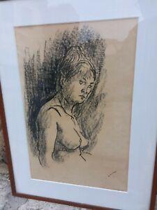 Alberto Ziveri Disegno Carboncino Nudo
