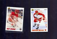 1991-92 Upper Deck Sergei Federov Detroit Red Wings Lot of 2 #144 and #6 Russia