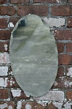 Vintage Art Deco Bevelled Edge Wall Mirror Frameless Shape Retro