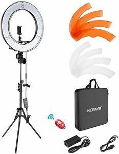 """Neewer Ring Light Kit:18""""/48cm Outer 55W 5500K Dimmable LED Ring Light, Light St"""