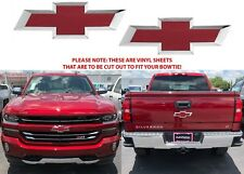 Cajun Red Tintcoat Vinyl Bowtie Decals For 2014-2018 Chevrolet Silverado New USA