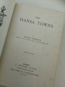 HANSA TOWNS. THE STORY OF THE NATIONS. HELEN ZIMMERN  HARDBACK 1891