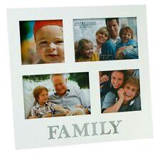 """Family White Multi Aperture 4 Photo Frame 6"""" x 4"""" Photos Frames Gift Idea"""