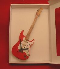 Electric Guitar Wall Clock Wooden Music Gift Stratocaster Design Rock Musician