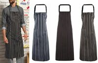 Premier Mens Ladies Work Wear Cafe Cooking Baking Apron Butcher Style Stripes