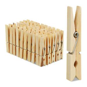 Wäscheklammern Holz 100er Set Holzwäscheklammern Holzklammern Bastelklammern XL