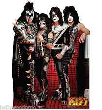 KISS GENE SIMMONS PAUL STANLEY LIFESIZE CARDBOARD STANDUP STANDEE CUTOUT POSTER