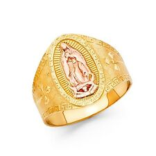 14k Two Tone Gold Virgin of Guadalupe Ring Oro Solido Virgen de Guadalupe Anillo