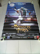 AFFICHE UN MONSTRE A PARIS  4x6 ft Bus Shelter Original Movie Poster 2011