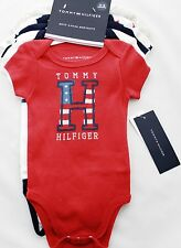 Tommy Hilfiger Infant Baby Boys Bodysuits Clothing Shirt 5 Piece Set 0-3 months