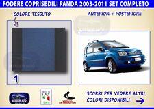 Coprisedili Fiat Panda 4x4 2003>2011 set fodere auto copri sedili sedile set Blu
