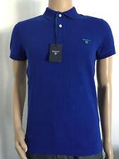 Gant contrast collar pique SS rugger camiseta polo nuevo col Ink Blue * 3