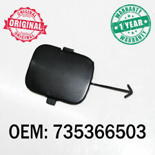 Black Tow Hook Cover Eye Cap Rear Bumper For Fiat Panda 2003 Onwards