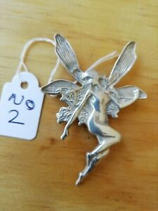 Solid Silver Large Fairy Brooch. Stamped 925