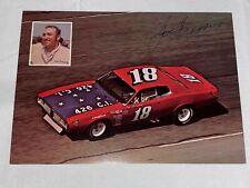 Joe Frasson autographed #18 DODGE MINNESOTA 1973 NASCAR HERO CARD photo VINTAGE