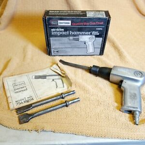 Vintage Sears Craftsman High Speed Air Hammer, Model 756.18894 Box & Papers Tips