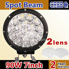 7 inch 90W CREE LED Round Spot Work Driving Light Lamp for Offroad 4WD Truck Suv
