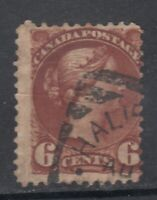 """Canada Scott #43  6 cent red brown """"Small Queen"""""""