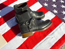 Harley Davidson Women's Black Leather Ankle Boots w/Side Zipper Sz 7