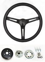 "C15 C25 C35 C1500 Jimmy Black on Black Steering Wheel GMC center cap 13 1/2"""